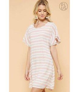 Andree Stripe Short Sleeve Dress