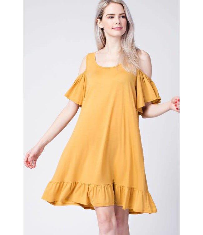 Mitto Tencel Cold Shoulder Dress