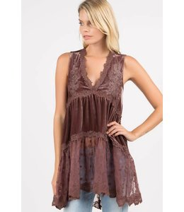 POL Sleeveless Babydoll Tunic
