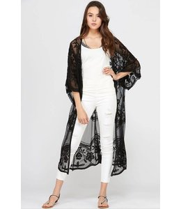 Wishlist Sheer Lace Kimono
