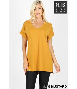 Zenana Rolled Sleeve Top