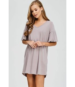 Cherish Bubble Sleeve Dress