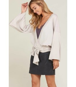 Bow Front Surplice Top