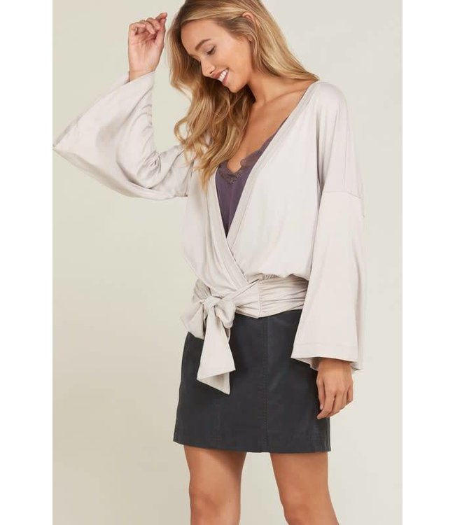 Wishlist Bow Front Surplice Top