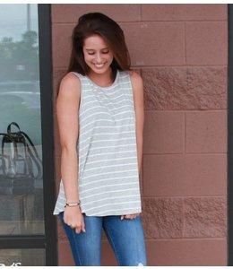 BiBi Sleeveless Stripe Tunic