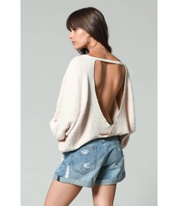 By Together Oversized Open Back Sweater