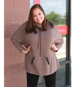 Full Figured Fashionista Cowl Neck Sweatshirt