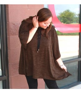 Full Figured Fashionista Poncho Sweater