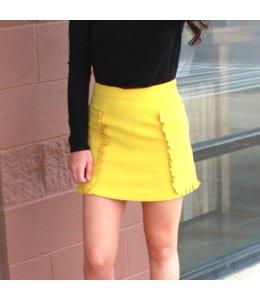 August Apparel Ruffle Pocket Skirt