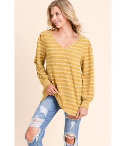 Doe & Rae V Neck Cut Out Sweater