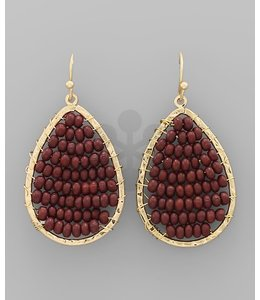 Caroline Hill EP06431 Earrings Burgundy/Gold