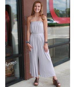 A Beauty Strapless Jumpsuit