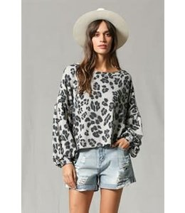 Lepoard Print Pirate Arm Top