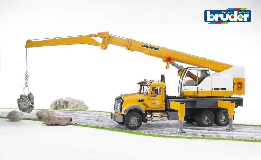 MACK Granite Liebherr Crane Truck by Bruder
