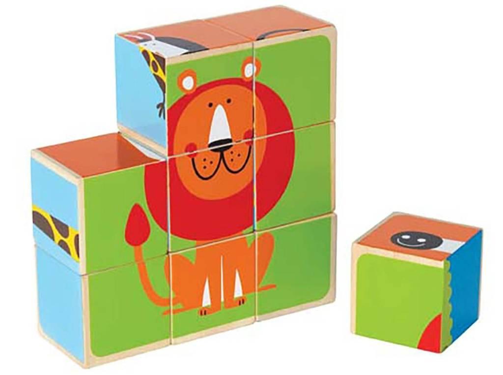 hape zoo animals block puzzle by hape   fundamentally toys