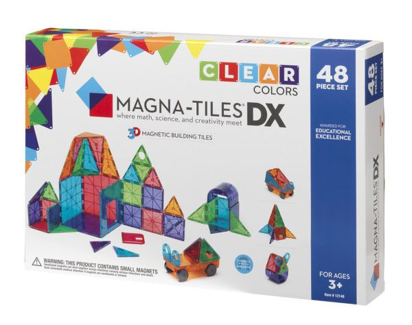 Magna-Tiles Clear Colors 48-pc Deluxe Set