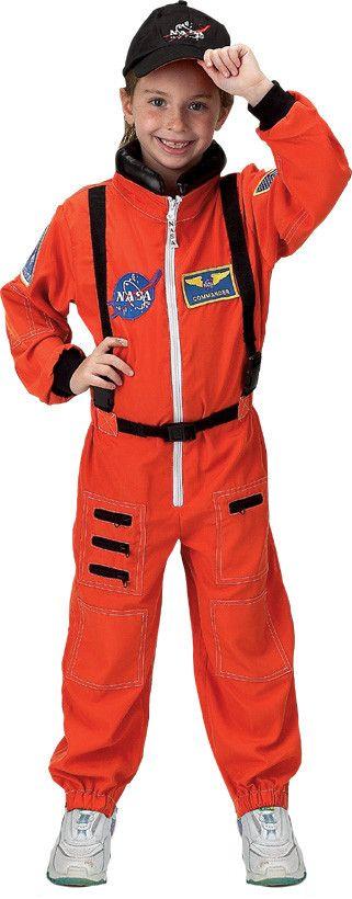 Aeromax Orange Astronaut Suit Costume (4-6)