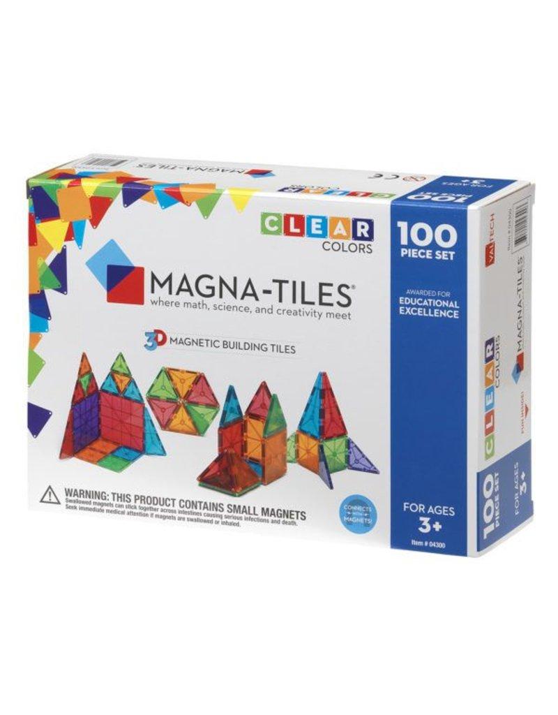 Magna-Tiles Clear Colors 100-pc Set