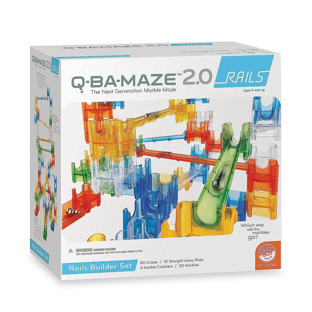 Q-BA-MAZE 2.0 Rails Builder Set by MindWare