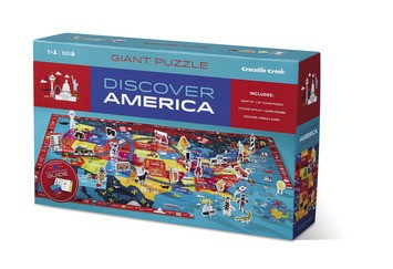 Discover America 100-pc Puzzle by Crocodile Creek