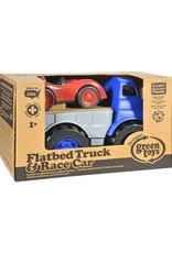 Green Toys Flatbed Truck with Race Car