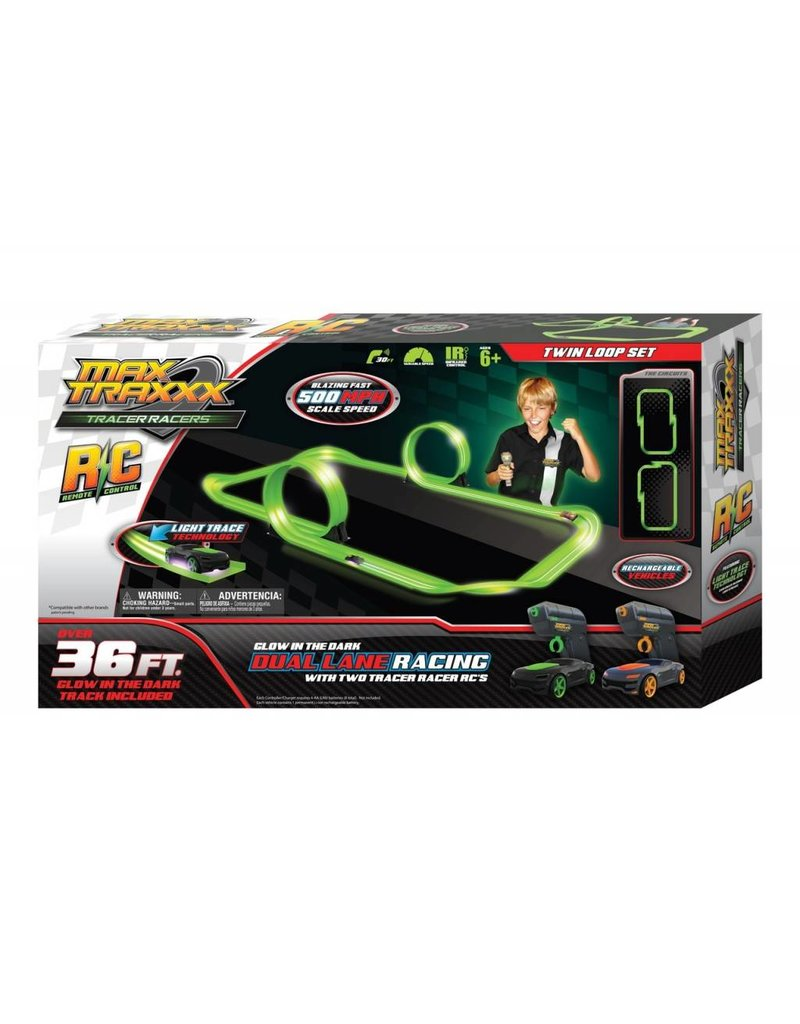 Max Traxx Tracer Racers R/C Twin Loop Set