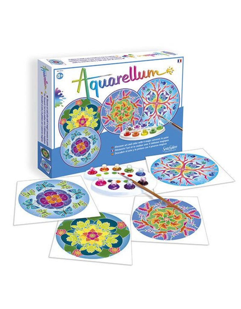Aquarellum Large Animal Mandalas Painting Kit
