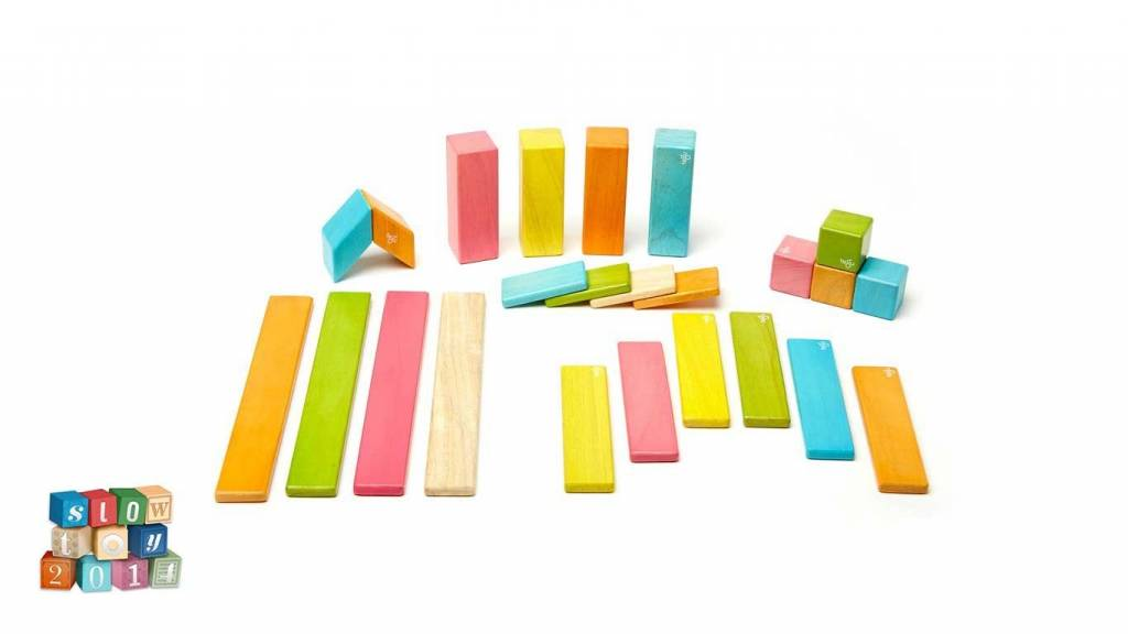 Tegu Magnetic Wooden Blocks Set - Tints