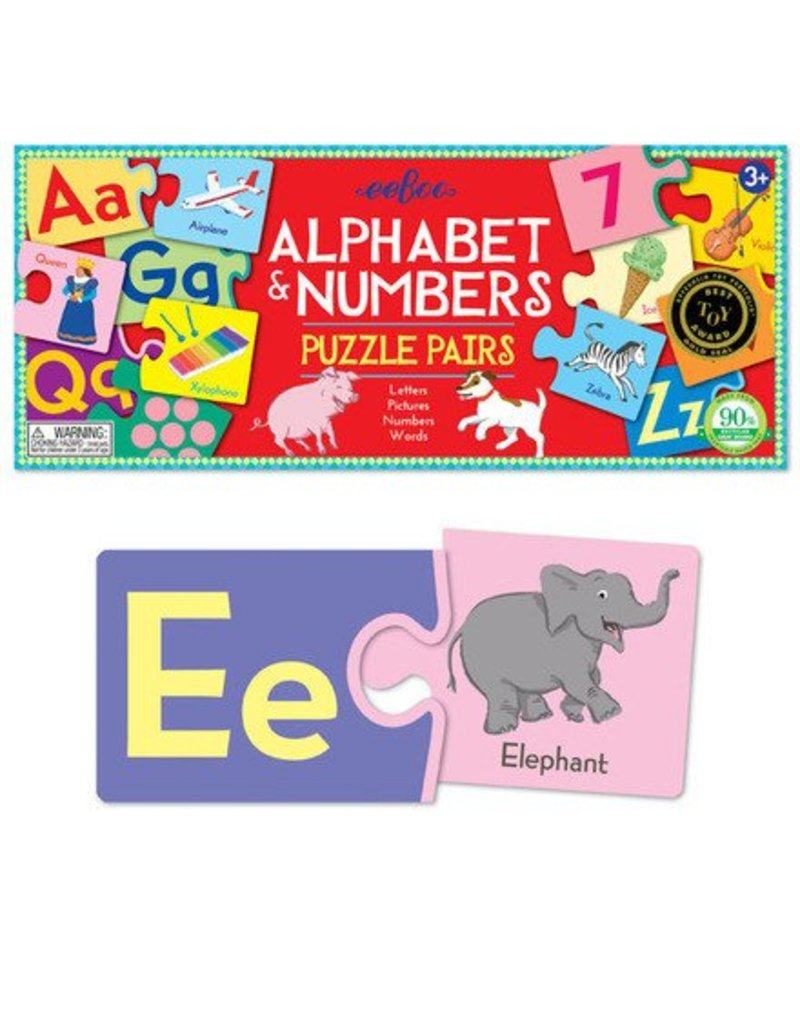 Alphabet and Numbers Puzzle Pairs by eeBoo