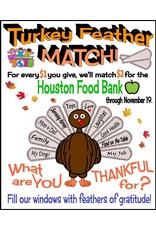 Turkey Feather Match Donation - $5, 10 or $20