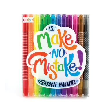 Make No Mistake Erasable Markers by Ooly