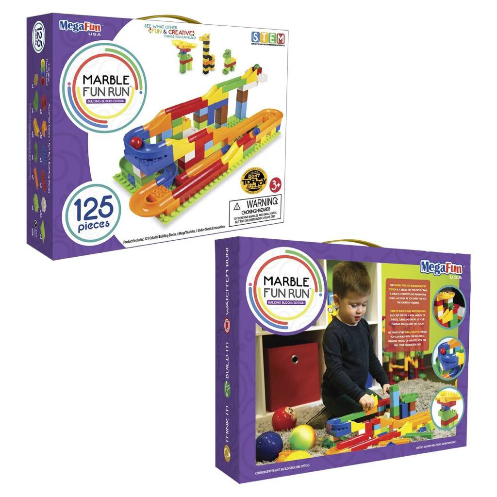 Mega Fun USA Marble Run by MegaFun, 75- or 125-piece set