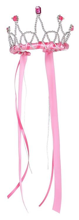 Ribbon Tiara - Dark Pink