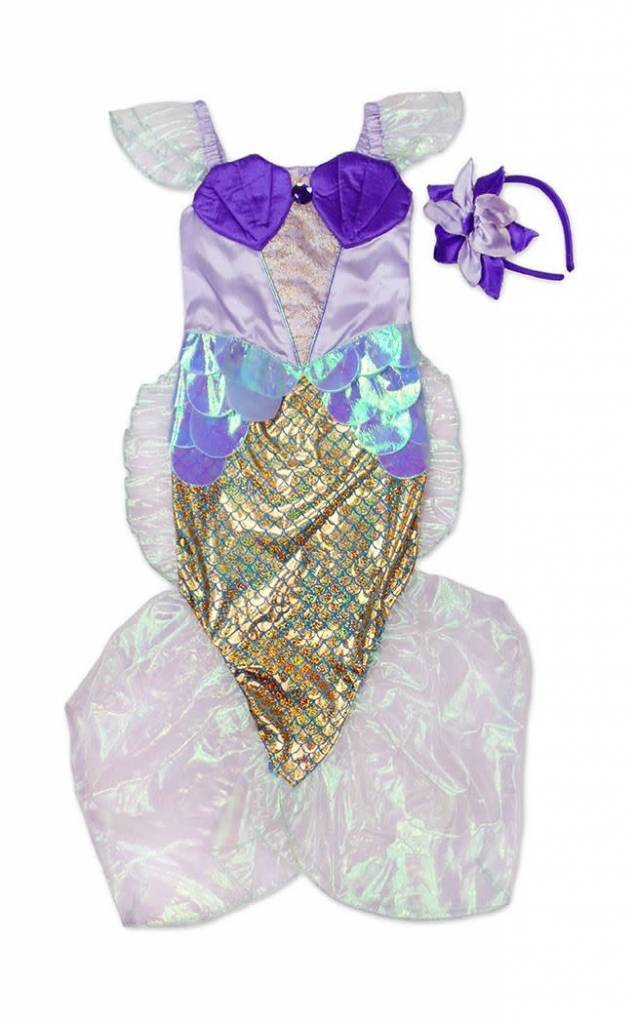 Mermaid Dress in Blue & Lilac