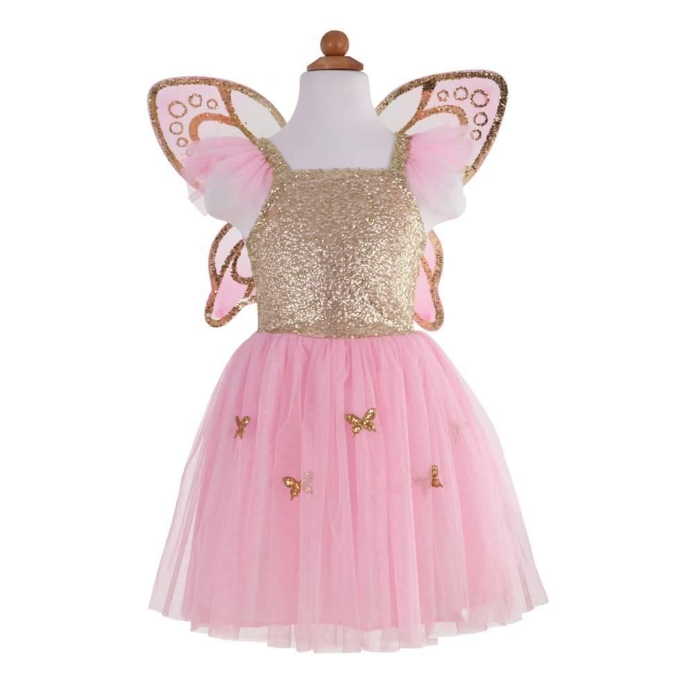 Gold Butterfly Dress & Wings (4-6)