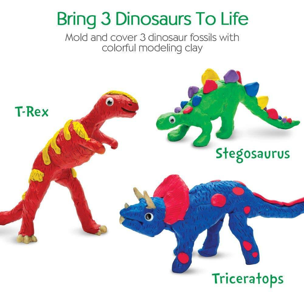 Create with Clay Dinosaurs Kit