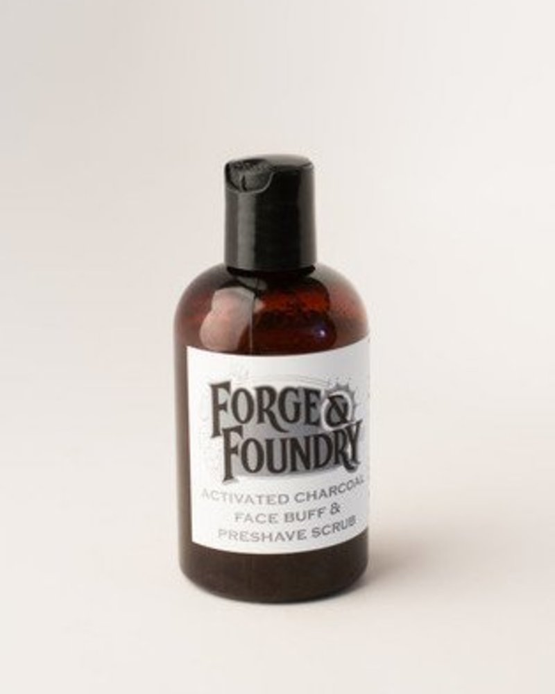 Forge & Foundry face buff + preshave scrub charcoal