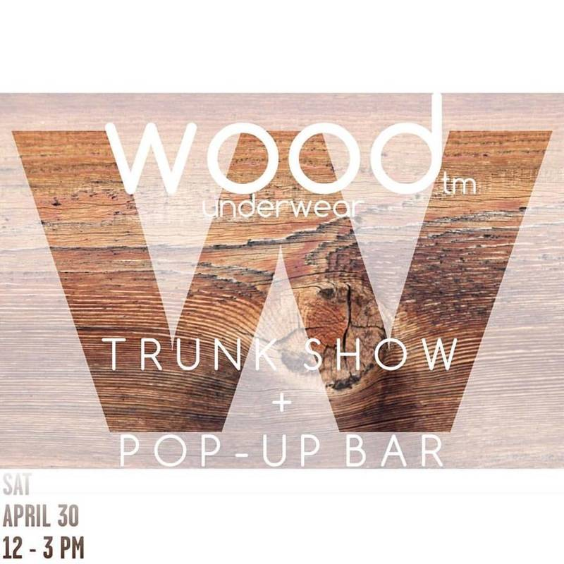 POP UP WOOD TRUNK SHOW WITH MOONSHINERS BAR AND COCKTAILS