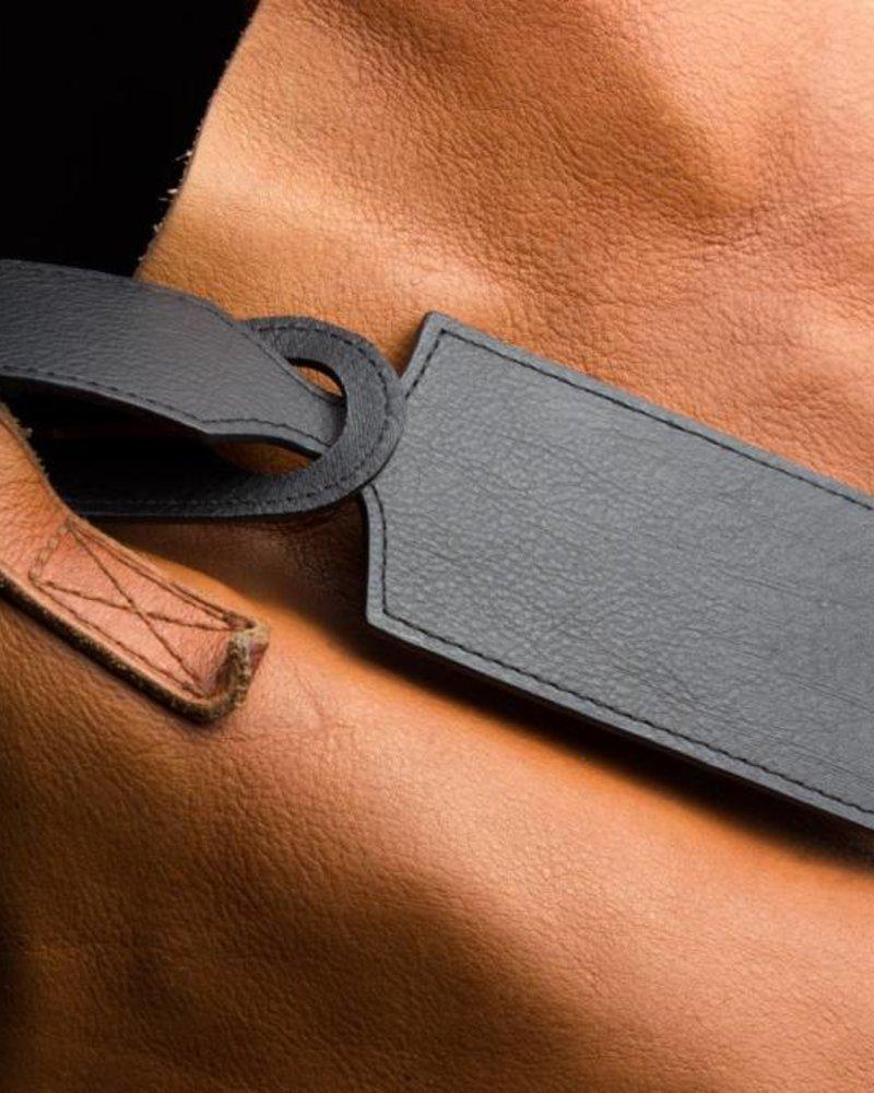 kiko leather luggage tag