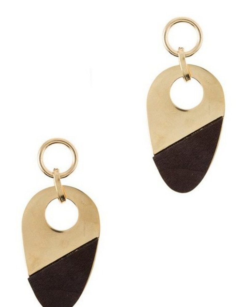 the art of style WOOD STATEMENT EARRINGS