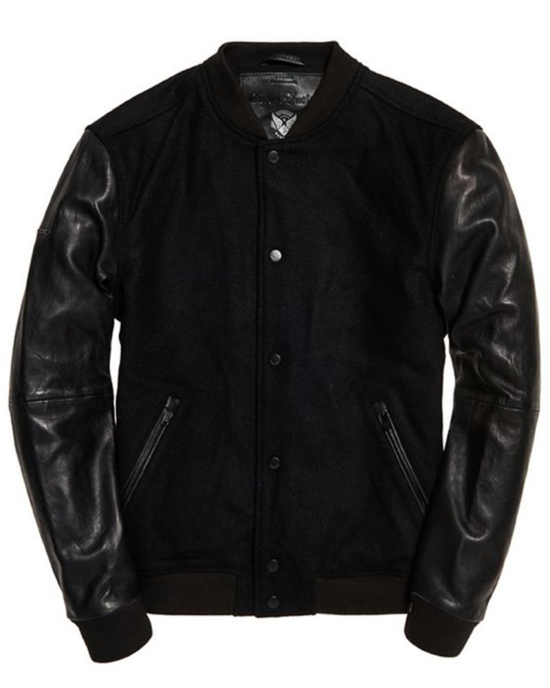 superdry VARSITY WOOL LEATHER