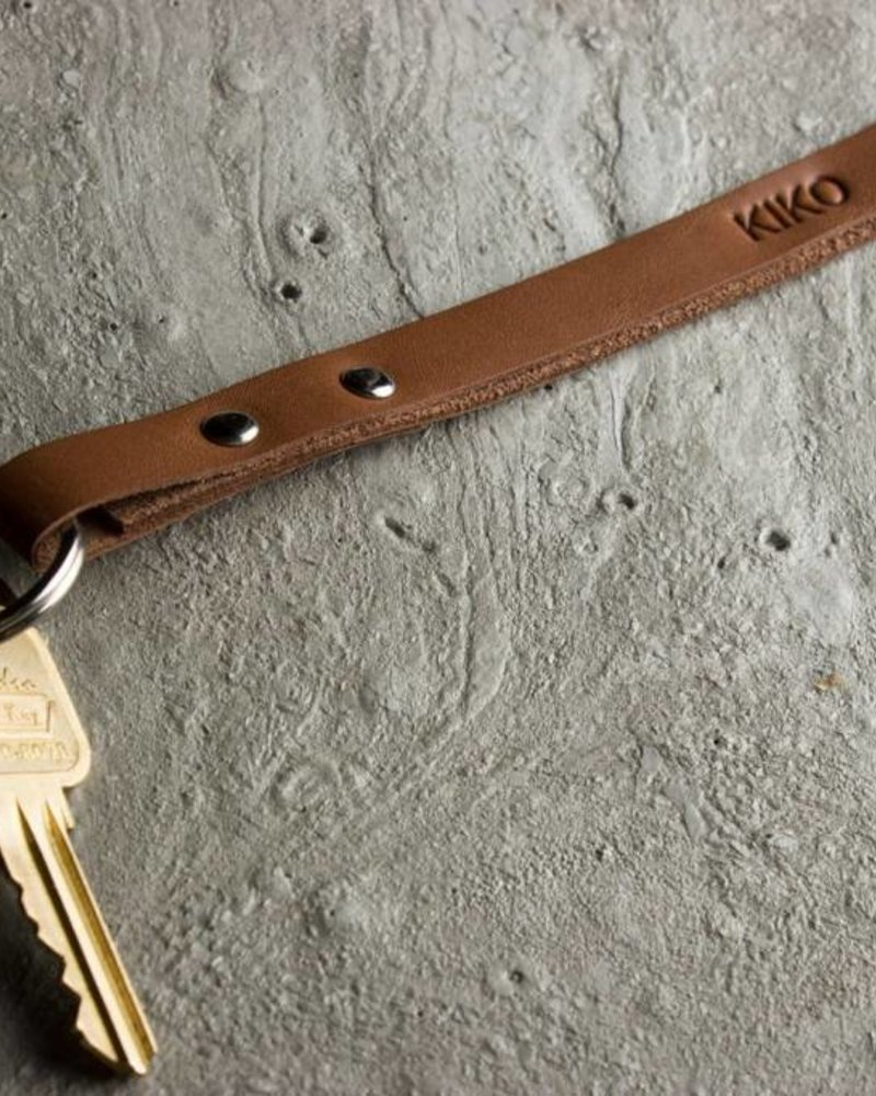 kiko leather keychain