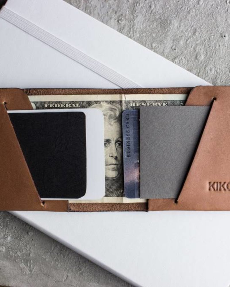 kiko unstitched leather billfold wallet
