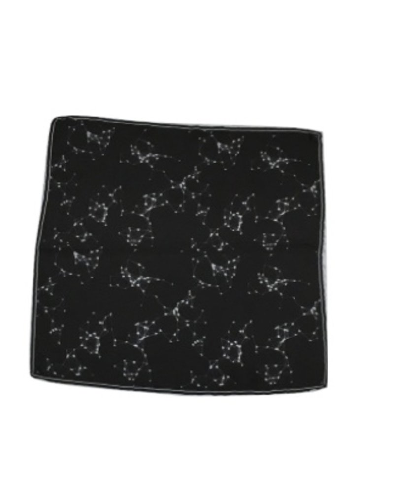 MACEOO BLACK HOLE POCKET SQUARE