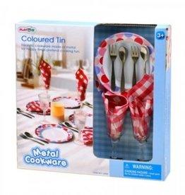 Ensemble de vaisselles en métal Playgo