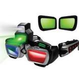 Lunettes futuristes 3D d'espion