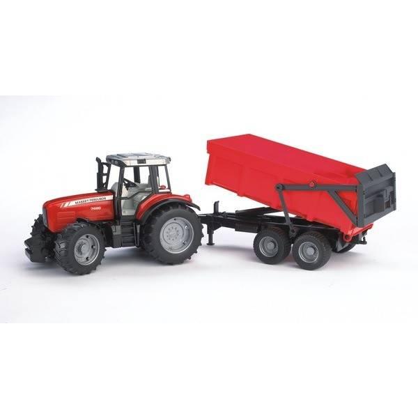Bruder Bruder - Tracteur Massey Fergusson 7480 avec Benne 24''