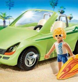 Playmobil Surfer et voiture décapotable