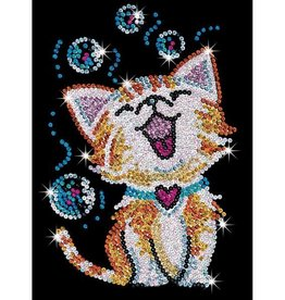 Sequin art chaton bubbles