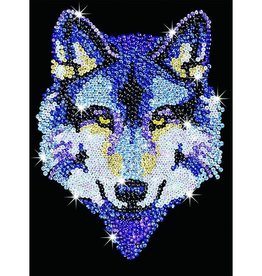 Sequin art loup velours